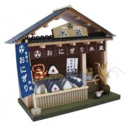 Shops kit of Billy handmade doll house kit street corner Japanese-style series Onigiriya 8773
