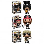 Funko Rocks: Pop Music Guns N Roses Collectors Set-Slash, Axl Rose, Duff Mckagan Action Figure