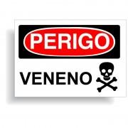 Perigo veneno com opção em vinil adesivo ou placa