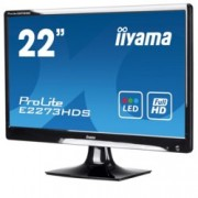"Монитор IIYAMA E2273HDS-B1, 21.5""(54.61 см) TN панел,Full HD, 2ms, 12000000:1, 250 cd/m2, HDMI, DVI, VGA"