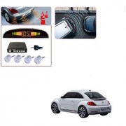 Auto Addict Car Silver Reverse Parking Sensor With LED Display For Volkswagen Beetle