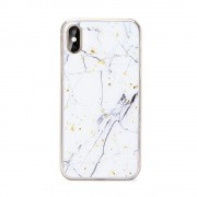 Carcasa Forcell Marble Huawei Y7 (2019) White