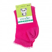 Rede Junior rózsaszín fehérrel lány zokni