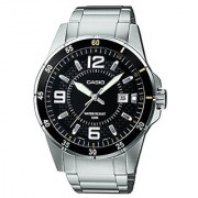 Casio Enticer Analog Black Dial Mens Watch - Mtp-1291D-1A2Vdf (A414)