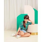 Milla Star Groen shirt met print Communie bloemenprint