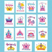 Baker Ross Princess temporary tattoos - 36 asst kids princess tattoos. Easily applied with water. Tattoo sheets 4cm x 5cm.