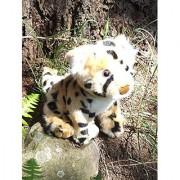7 Sitting Plush Toy Cheetah Cub - Stuffed Animal Baby Cheetah