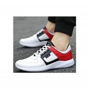 Hombre Zapatos Casual De Correr Fashion-cool-Blanco Y Rojo