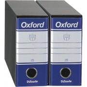 Raccoglitori a leva memorandum Esselte Oxford G81 - 788124 Raccoglitori per documenti memorandum 23x18 cm con dorso da 8 cm di colore blu in confezione da 12 Pz.