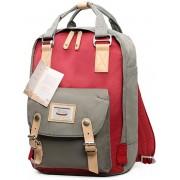 Fashion Casual rugzak Laptop tas Student reistas met handvat grootte: 38*28*15cm(Grey+Red)