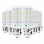 sencart 6 unids E27 8 W 800LM SMD fresco blanco ahorro de energia bombilla de luz LED lampara shell mate AC220-240V