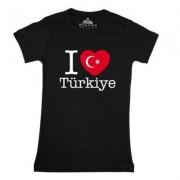 geschenkidee.ch Ländershirt Türkei, Schwarz, M, Frau