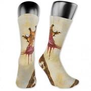 OLGCZM Calcetines de jirafa para hombre y mujer, finos, de tobillo, informales, para senderismo al aire última intervensión
