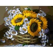 Gaira Malování podle čísel Koš květin M1364