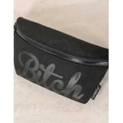 Fydelity Bitch Werds Ultra Slim Fanny Pack Bag Black 83024