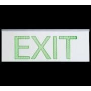LED vészvilágító lámpatest , két oldalú , EXIT ábra , fali- mennyezeti szerelhetőség