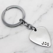 Hilary & June Personalised Guitar Pick Key Ring