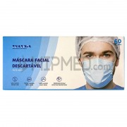 Máscaras Sociais Descartáveis de Tripla Camada – Nível 2 – 90% – 50 unidades (Produzidas em Portugal)