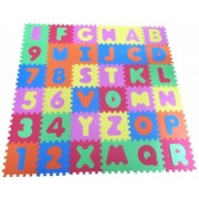 Covor copii 10+ luni puzzle din spuma Alphabet and Numbers 36 piese