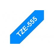 Tape 24mm TZe-555 Vit på Blå