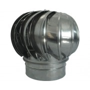 Capac terminal rotativ simplu perete din inox Ø200 mm