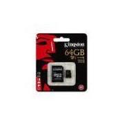 Cartão De Memória Kingston Microsdxc 64gb Classe 10 U1 90mb/s Com Adaptador - Sdca10/64gb