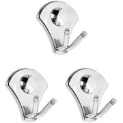 Doyours Stainless Steel Glossy Robe Hook - Set of 3