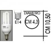 Lampada risparmio energetico 9W E14 3 tubi Kapta