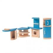 Plan Toys Drewniane mebelki dla lalek - meble Kuchnia Decor do domku dla lalek, PLTO-7440