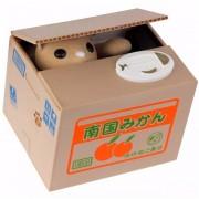 Alcancia Roba Monedas Con Sonido De Gato Naranja
