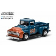 1956 Ford F-100 (Blue) * 2015 Motor World * Series 13 American Edition 1:64 Scale Die-Cast Vehicle