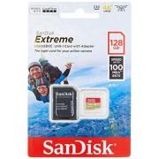 SanDisk SDSQXAF-128G-GN6AA Tarjeta de Memoria, 128 GB, MicroSDXC, Clase 10, UHS-I, 100 MB/s, color Negro/Rojo