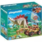 Комплект Плеймобил 9432 - Кола на изследовател със стегозавър, Playmobil, 2900389