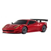 Kyosho Mini-Z MR-03S Ferrari 458 Italia GT2 Race Car, Red Chrome