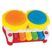 """Развивающая игрушка """"Первые уроки музыки"""" с барабаном, пианино, 3 музыкальных режима 633052"""
