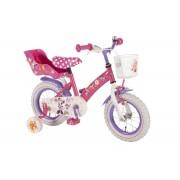 """Bicicleta pentru fetite cu inaltime reglabila si roti ajutatoare, 12"""" 3-4 ani, Minnie Mouse"""