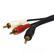 Cable de audio stereo a 2 RCA 1.8 metros X-Case AUD35M2RCA180