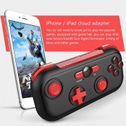 Ocamo Bluetooth Gamepad Wireless Game Controller for Android/iOS/Switch/Win Joystick Handles (Red and Black, XJSJDZ0622-LWCJ07)