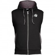 Gorilla Wear Springfield Sleeveless Zipped Hoodie - Zwart - 3XL