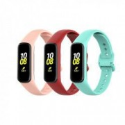 Set 3 curele din silicon pentru bratara smart Samsung Fit E SM-R375 bordo turcoaz roz