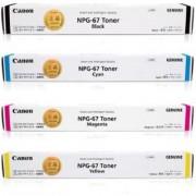 Canon NPG 67 Multi Color Toner (Black Cyan Yellow Magenta)