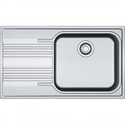 Chiuveta Franke Smart SRL 611-86 LB Inox Dekor 101.0357.115, 860x500, 1B 1D, Cuva stanga, Margine slim