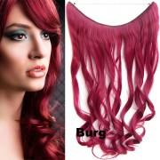 Flip in vlasy - vlnitý pás vlasů - odstín BURG - Světové Zboží