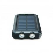Quazar Solar Cell 10000 mAh napelemes powerbank LED lámpával, fekete