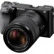 Sony »ILCE-6400MB - Alpha 6400 E-Mount« Systemkamera (24,2 MP, Bluetooth, WLAN (Wi-Fi), NFC, 4K Video, 180° Klapp-Display, XGA OLED Sucher, M-Kit 18-135mm Objektiv)
