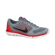 Nike Men's Flex Experience RN 4 (Dove Grey / Bright Crimson / White / Black) Running Shoe, 6 D - Medium