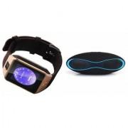 Zemini DZ09 Smartwatch and Rugby Bluetooth Speaker for SAMSUNG GALAXY CORE LITE(DZ09 Smart Watch With 4G Sim Card Memory Card| Rugby Bluetooth Speaker)