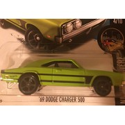 HOT WHEELS Hot Wheel '69 dodge charger 500 Dodge Charger Green 2016 # 84