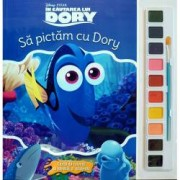 Disney. In cautarea lui Dory. Sa pictam cu Dory. Carte de colorat cu pensula si acuarele