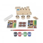 Coloreaza-ti locomotiva din lemn Melissa and Doug